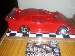 1/24 Red Blank Black chasss DIRT LATE MODEL DIECAST DIRT RACE CAR DIRT RACING