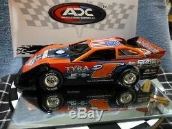 2020 ADC Dustin Linville #8 1/24 Dirt Late Model Car Red Series
