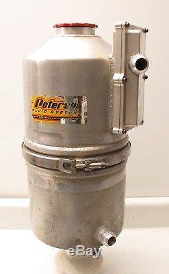4 Gallon Peterson Aluminum Dry Sump Oil Tank Filter Dirt Late Model Brackets #3