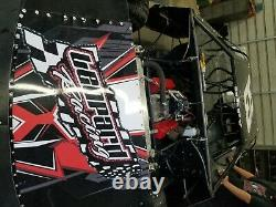 4 afco silver series double adjustment late model dirt car race shocks