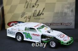ADC Autographed #74 Mark Noble 2003 Dirt Late Model 1/24 Diecast