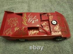 Adc Red Blank Dirt Late Model 1/24 Signed By 14 Drivers