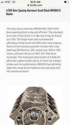 Brodix SBC Alum Block Dirt Late Model Imca Race Car