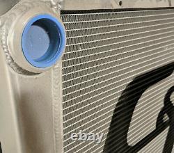 C&R 28x19 Lightweight Dirt Late Model Radiator, 36mm Single Pass, High Outlet
