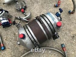 Complete Raceline Dry Sump System Patterson Tank Dirt Late Model IMCA Race Car