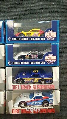 Dirt Late Model Diecast 164 Lot Of 12 Action New Bloomquist Pierce Boggs Duvall