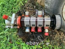 Dirt late model Bert / Brinn mount dry sump pump