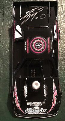 Extremely Rare Signed Scott Bloomquist 2014 DTWC Pink 1/24 Dirt Late Model ADC