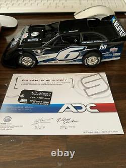 Kyle Larson 1/24 ADC Dirt Late Model #812/1400 2020 White Series Limited Ed. #6