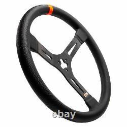 MPI 3-Spoke Dirt Late Model Black Steering Wheel w Vibration Absorption Foam