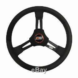 MPI MPI-D-15-A Sprint/Dirt Late Model Black 15 Diameter Steering Wheel