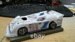New Dirt Latemodel Ready to Race Car WOW! White #1