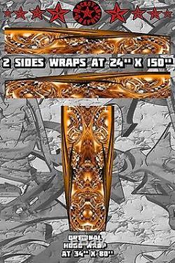 RACE CAR GRAPHICS #37, Half Wrap Vinyl Decal IMCA Late Model Dirt Trailer Truck