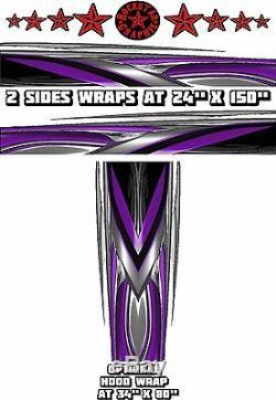 RACE CAR GRAPHICS #6, Half Wrap Vinyl Decal IMCA Late Model Dirt Trailer Truck
