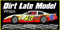 RACE CAR WRAP, Graphics, Decals, IMCA Late Model Dirt #15