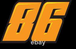 Race car numbers package decal set MA dirt late model modified street stock IMCA