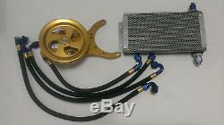 Rear Gear Cooler Pump & Bracket Lines Nascar Hot Rod Arca Late Model Dirt