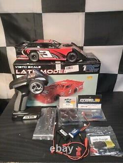 Rtr 1/18 1rc Late Model Dirt Oval Brushless Race Car Custom Works Losi Traxxas