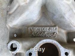 SBC 2975 Edelbrock Victor Jr Alum Intake Dirt Late Model Imca Race Car