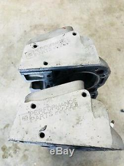 SBC GM 604 Crate Engine Alum Cylinder Heads Dirt Late Model Imca Race Car