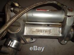 Sweet steering rack 18 1/4 4 ratio ump imca dirt late model appleton woodward